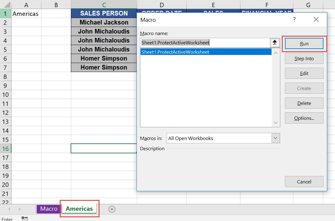 Protect Active Worksheet Using Macros In Excel | MyExcelOnline