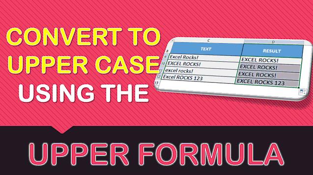 UPPER Formula in Excel