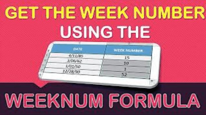 WEEKNUM Formula in Excel
