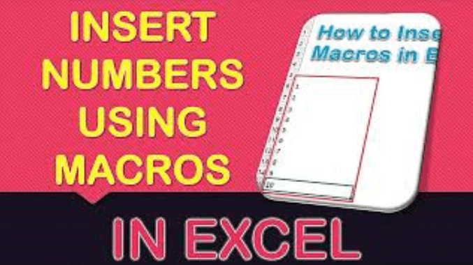 How to Insert Numbers Using Macros in Excel