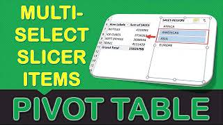 Multi-Select Slicer Items In Microsoft Excel Pivot Tables