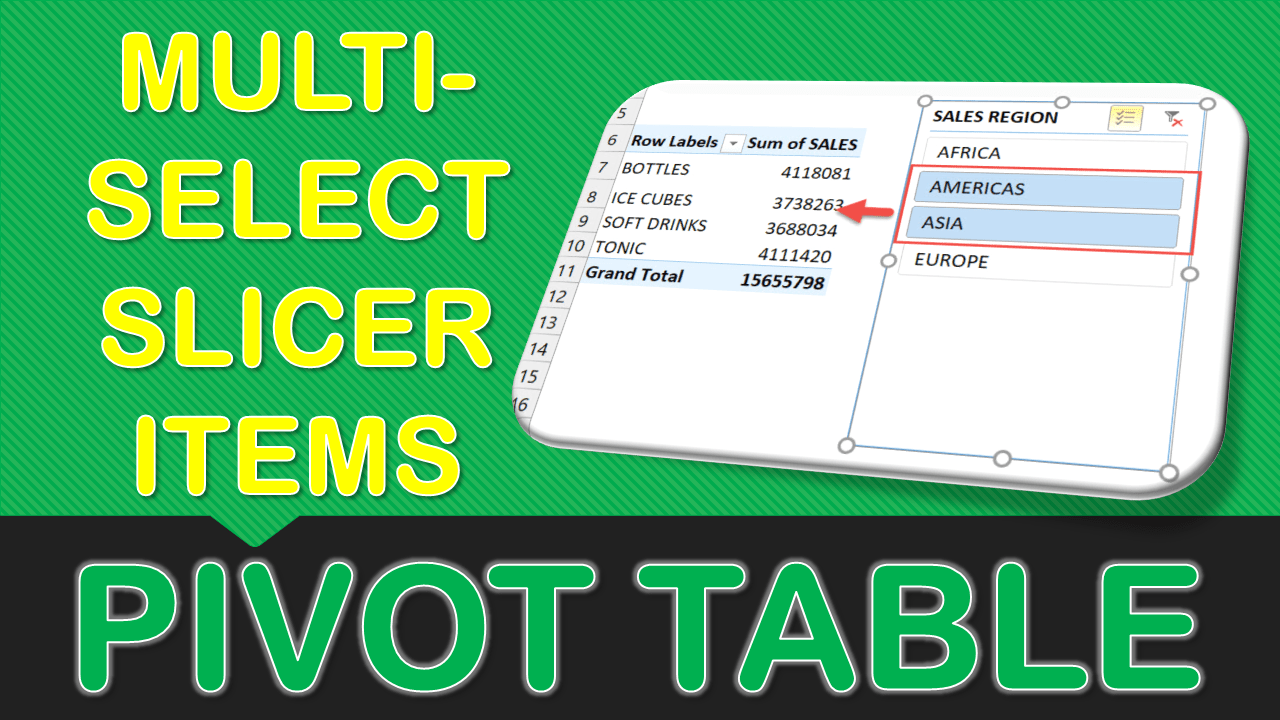 Multi-Select Slicer Items in Excel Pivot Tables | Free Excel