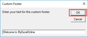 Add Custom Footer