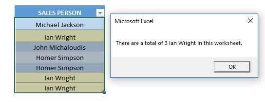Highlight and Count a Specified Value Using Macros In Excel | MyExcelOnline