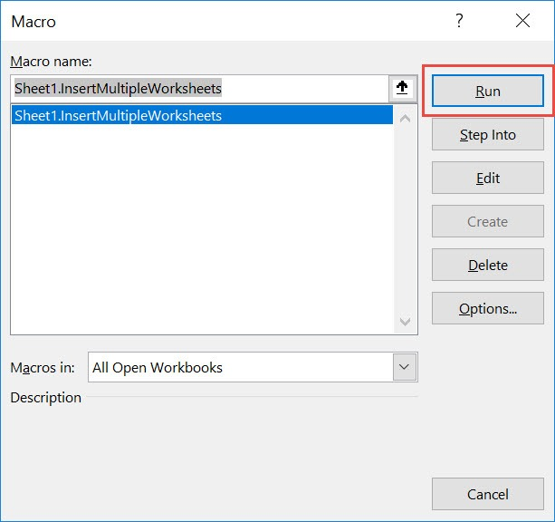 Insert Multiple Worksheets Using Macros In Excel | MyExcelOnline