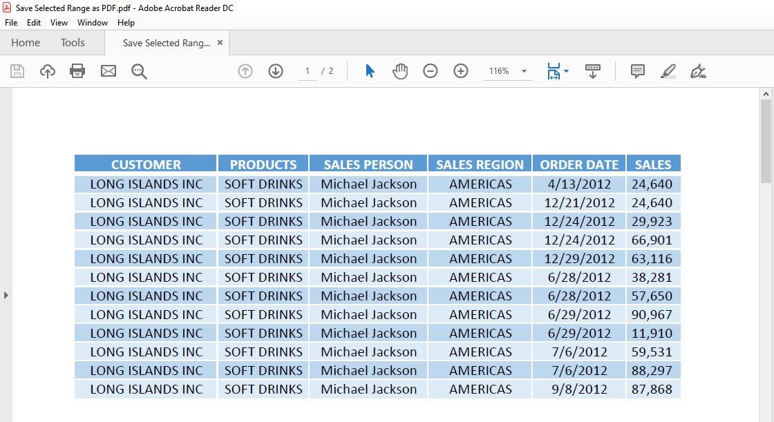 Save Selected Range as PDF Using Macros In Excel | MyExcelOnline