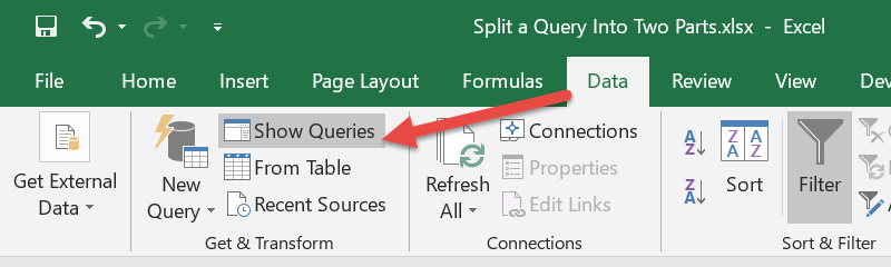 Split a Query into Two Parts