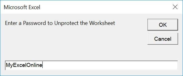 Unprotect Active Worksheet Using Macros In Excel | MyExcelOnline
