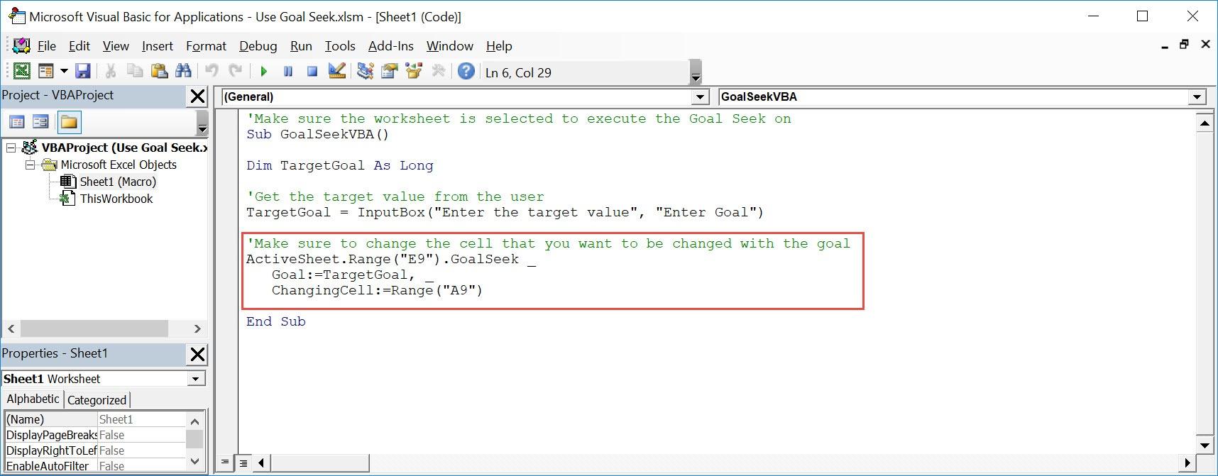 Use Goal Seek Using Macros In Excel   MyExcelOnline