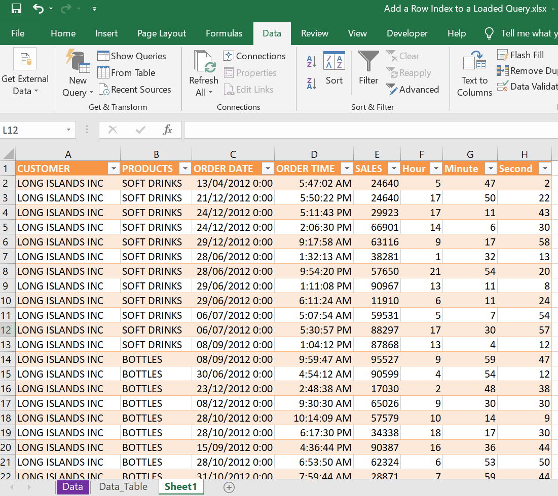Add a Row Index to a Loaded Query