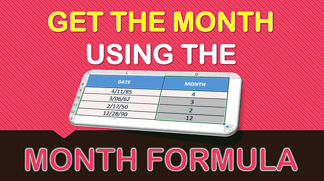 MONTH Formula in Excel