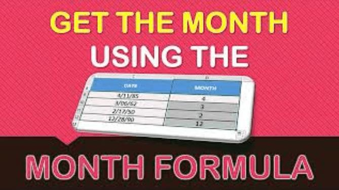 MONTH Formula in Excel