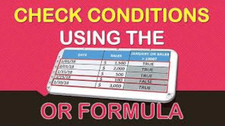OR Formula in Excel