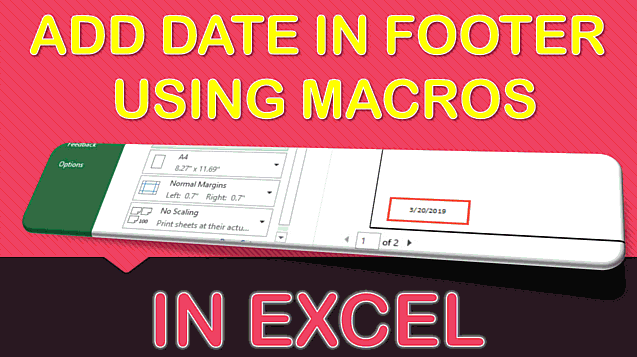 Add Date In Footer Using Macros In Excel