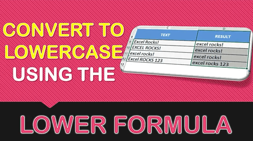 LOWER Formula in Excel