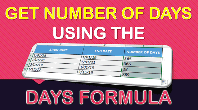 DAYS Formula in Excel