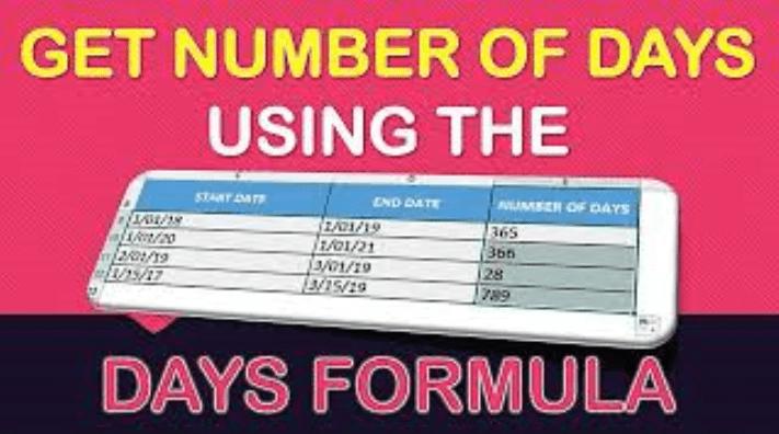 DAYS Formula in Excel