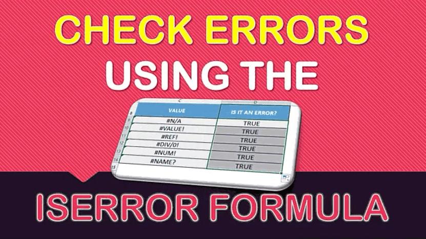 ISERROR Formula in Excel