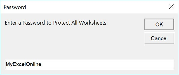 Protect All Worksheets Using Macros In Excel | MyExcelOnline