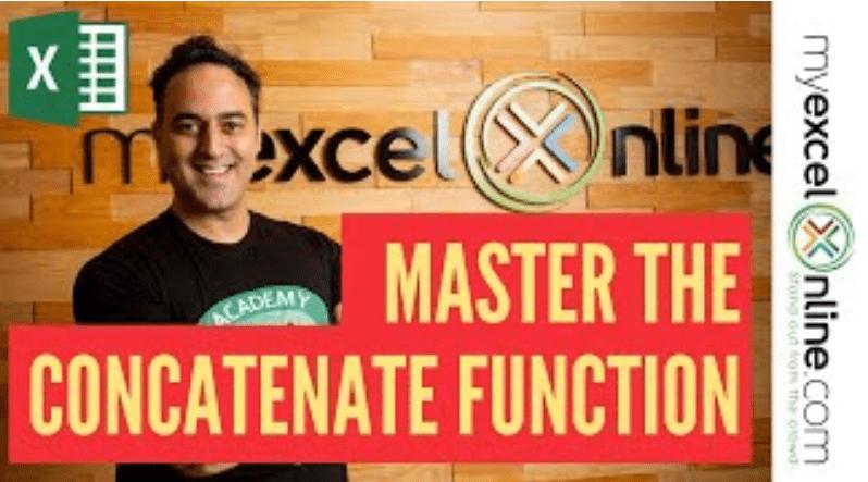 CONCAT Formula in Excel