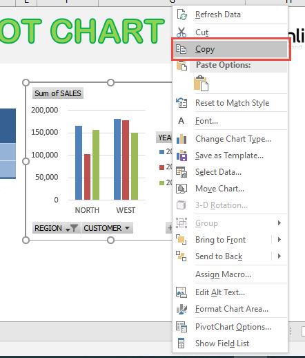 Copy a Pivot Chart