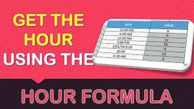 HOUR Formula in Excel