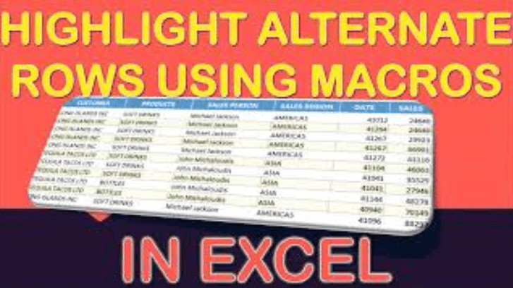 Highlight Alternate Rows in Selection Using Macros In Excel