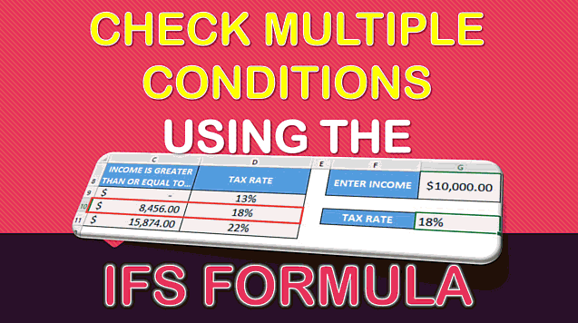IFS Formula in Excel