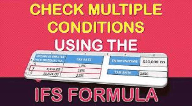 IFS Formula in Excel