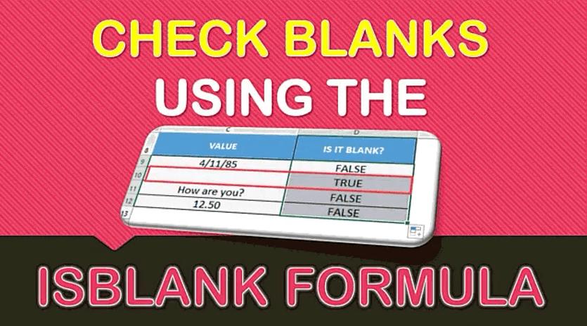 ISBLANK Formula in Excel