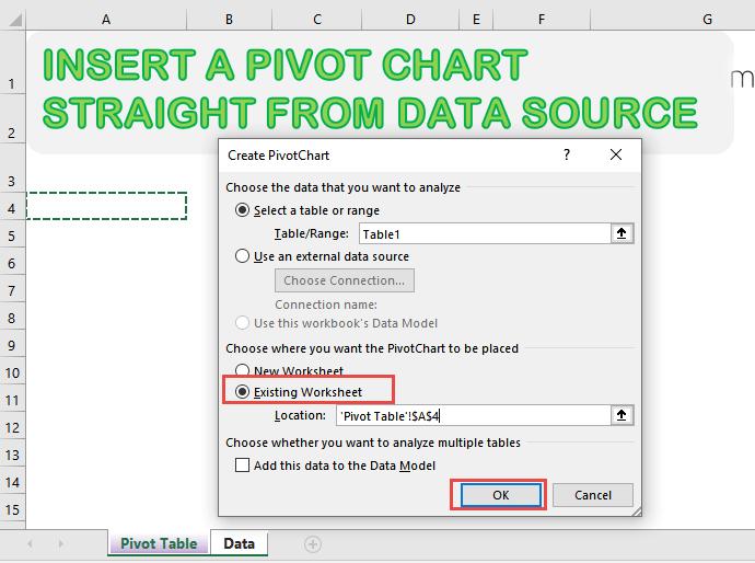 Insert a Pivot Chart