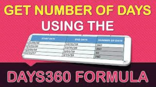 DAYS360 Formula in Excel