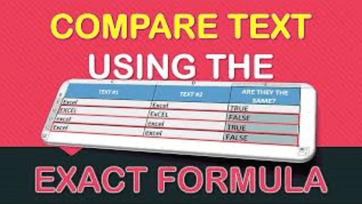 EXACT Formula in Excel