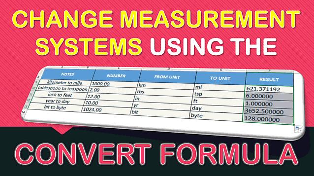 CONVERT Formula in Excel