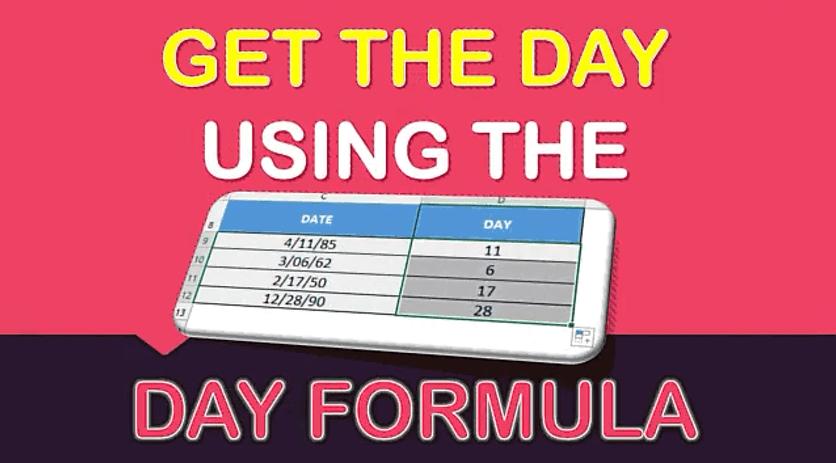 DAY Formula in Excel