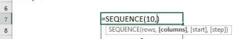 SEQUENCE Formula