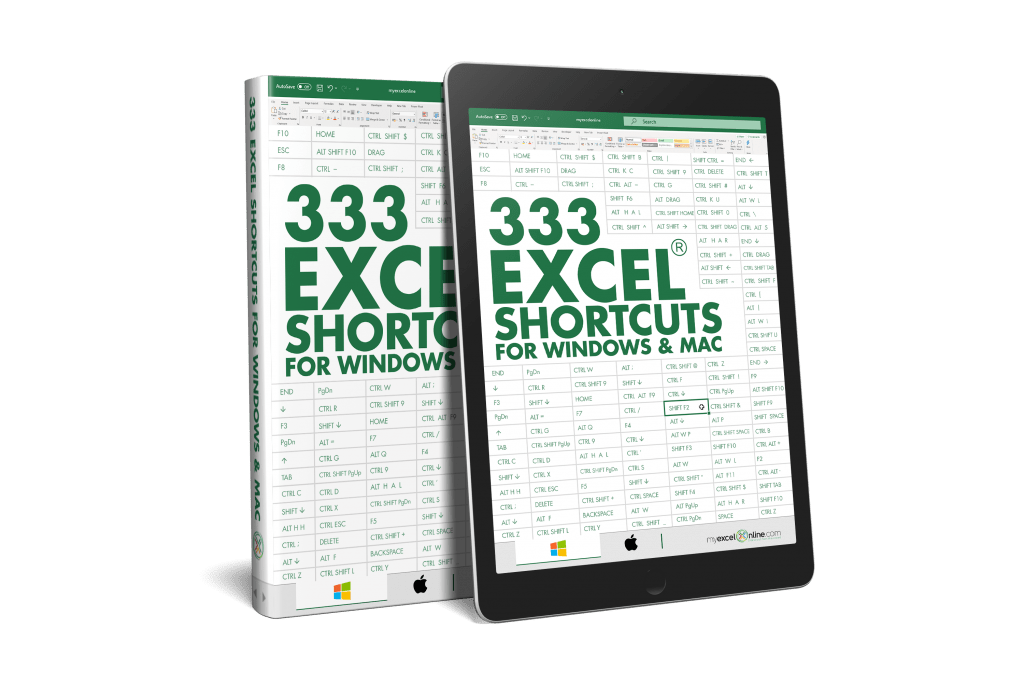 333 Excel Shortcuts for Windows and Mac