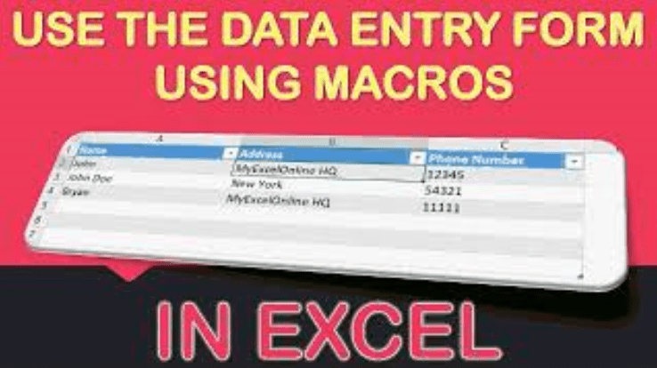Use the Data Entry Form Using Macros In Excel