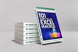 101 Ready To Use Excel Macros on Amazon