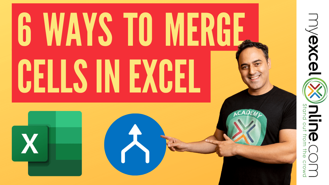 6 Simple Ways to Merge Cells in Excel | MyExcelOnline