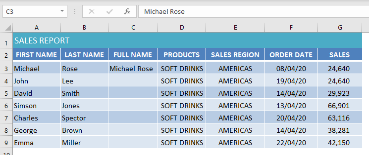 use flash fill to merge cells in excel