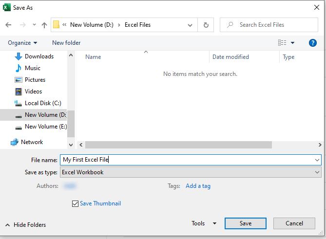 enter excel file name