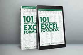 101 Most Popular Excel Formulas E-Book