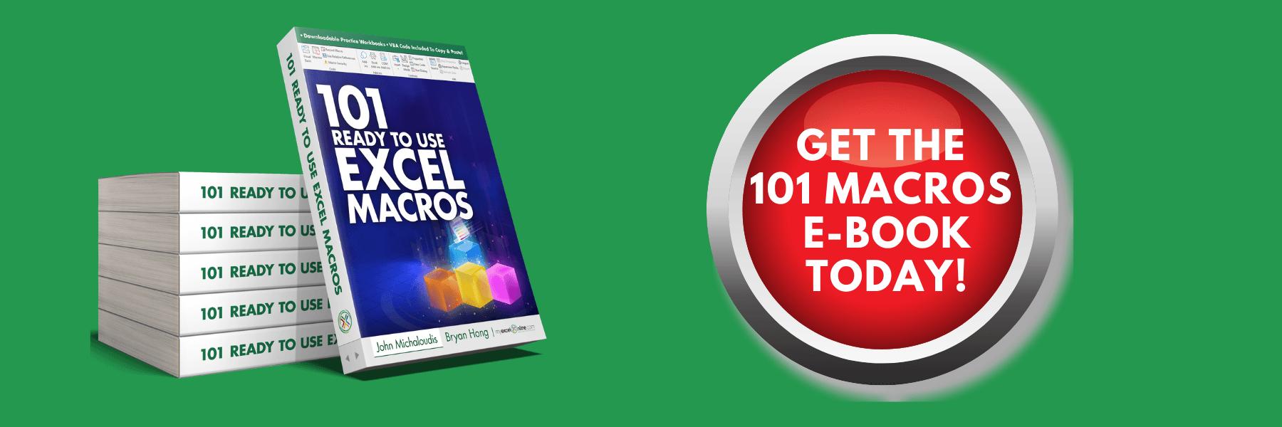 101 Excel Macros Examples | MyExcelOnline