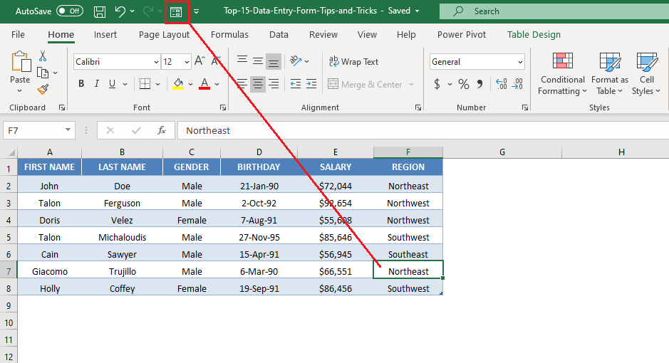 11 Excel Data Entry Form Tips and Tricks | MyExcelOnline