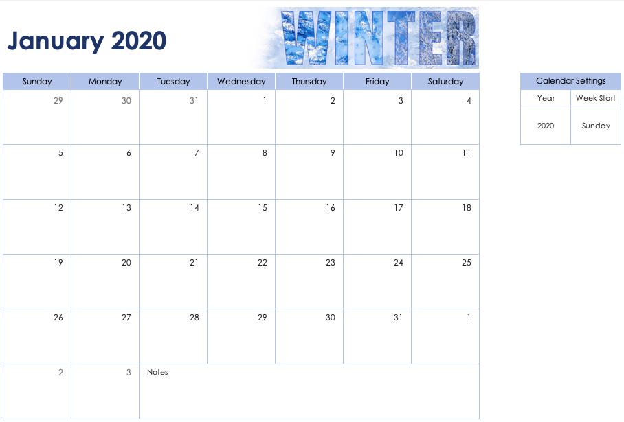 Seasonal Photo Calendar