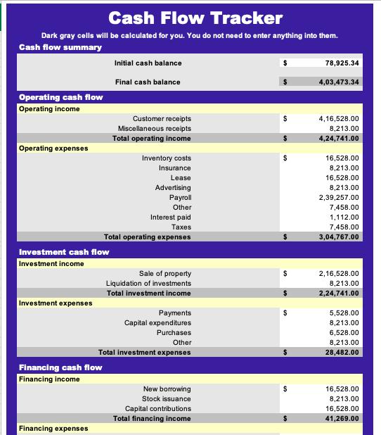 Cash Flow Tracker