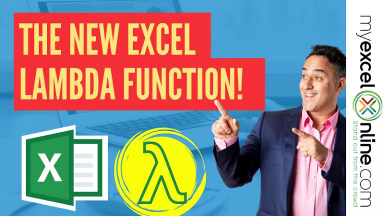 LAMBDA Function in Excel - Create Custom Functions in Excel | MyExcelOnline