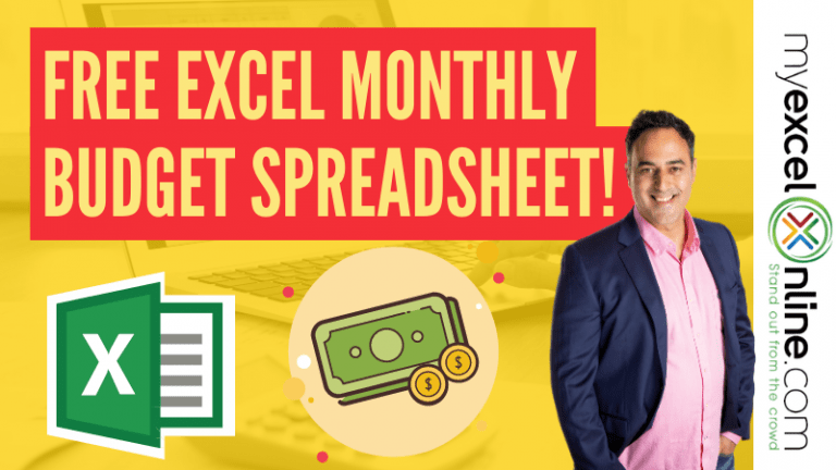 Free Excel Budget Spreadsheet to Keep Your Spending on Track! | MyExcelOnline