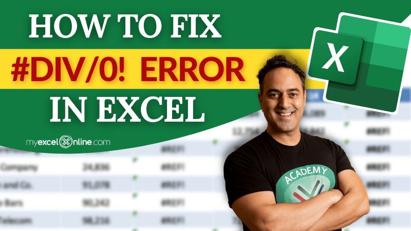 #DIV error in Excel   MyExcelOnline